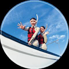 タイド専用船ボートクルーズ