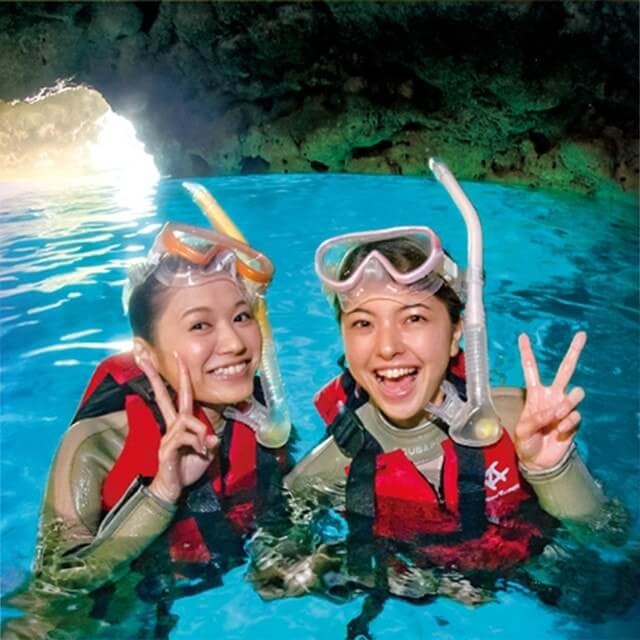 Cave snorkel tour of Cape Maeda, Okinawa blue