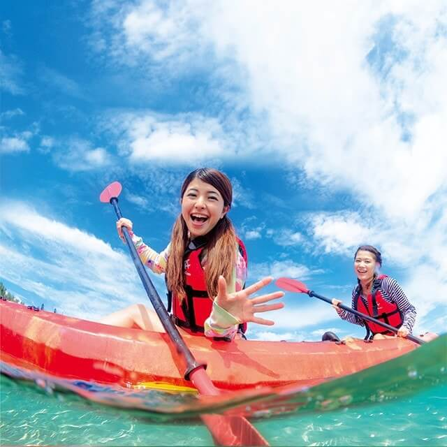 Malin support tide, Zanpa sea kayaking tour